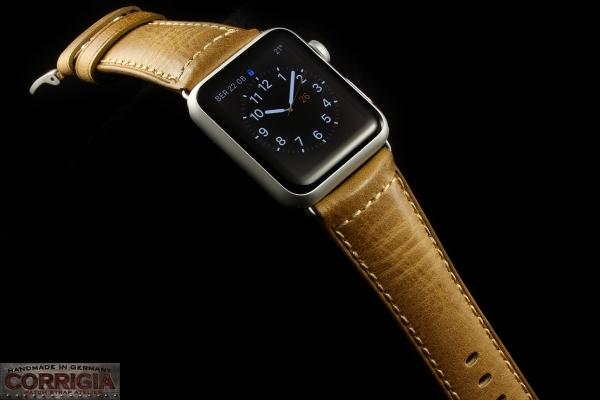 Mustard Lederband für Apple Watch