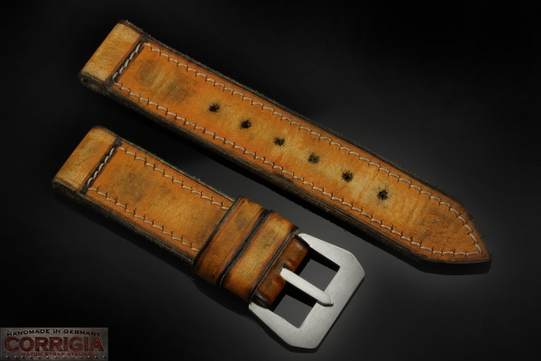 A-On Stock ! - L10 - Regia Marina Lug 26mm True Vintage Fold - 5,5mm Thick - with steel sew-in GPF-