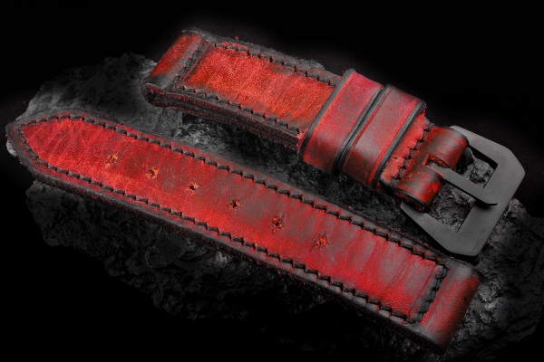 A-On Stock ! Squadra15 Red Dark Thickness 4mm - Made for a 44mm black Panerai