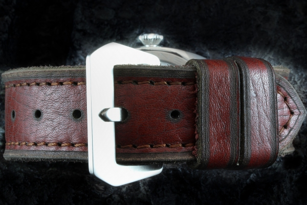 A-On Stock ! Z16 - Ernesto Forza 4mm Thick - Lug Width 24mm True Vintage- Sewin Brushed Steel PRE-V