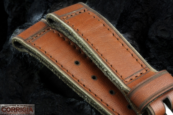 A-On Stock ! Z13 - Ernesto Notari - Brelli NOS 4mm Thick True Vintage- Sewin Brushed PRE-V Buckle
