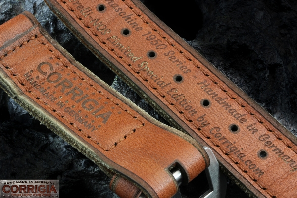 A-On Stock ! Z13 - Ernesto Notari - Brelli NOS 5.5mm Thick True Vintage- Sewin Brushed GPF Buckle