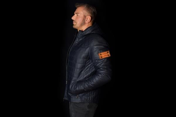 Jacket 05 - Blue Removable Hood - Custom Made