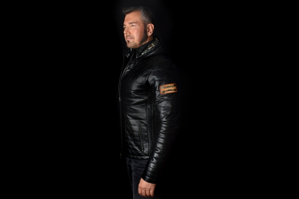 Jacket 05 - Black Removable Hood - Custom Made
